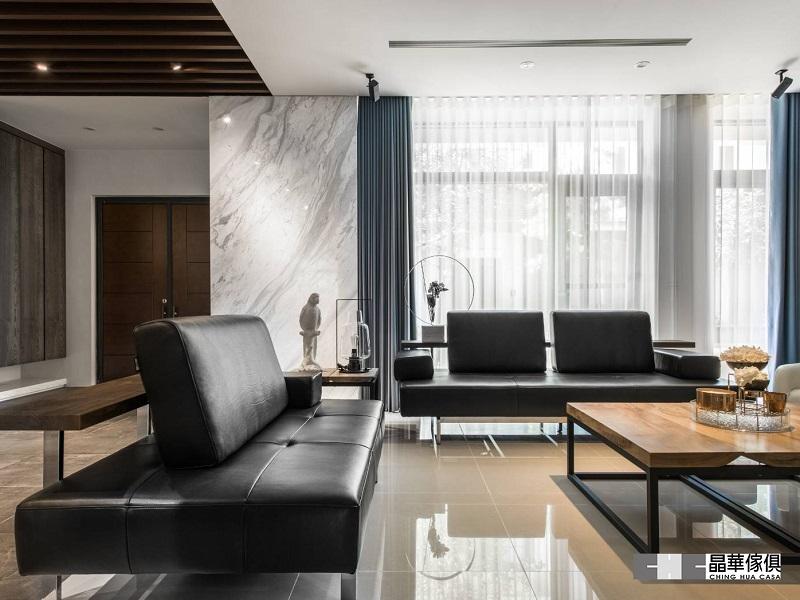 現代禪風設計渡假別墅|全牛沙發