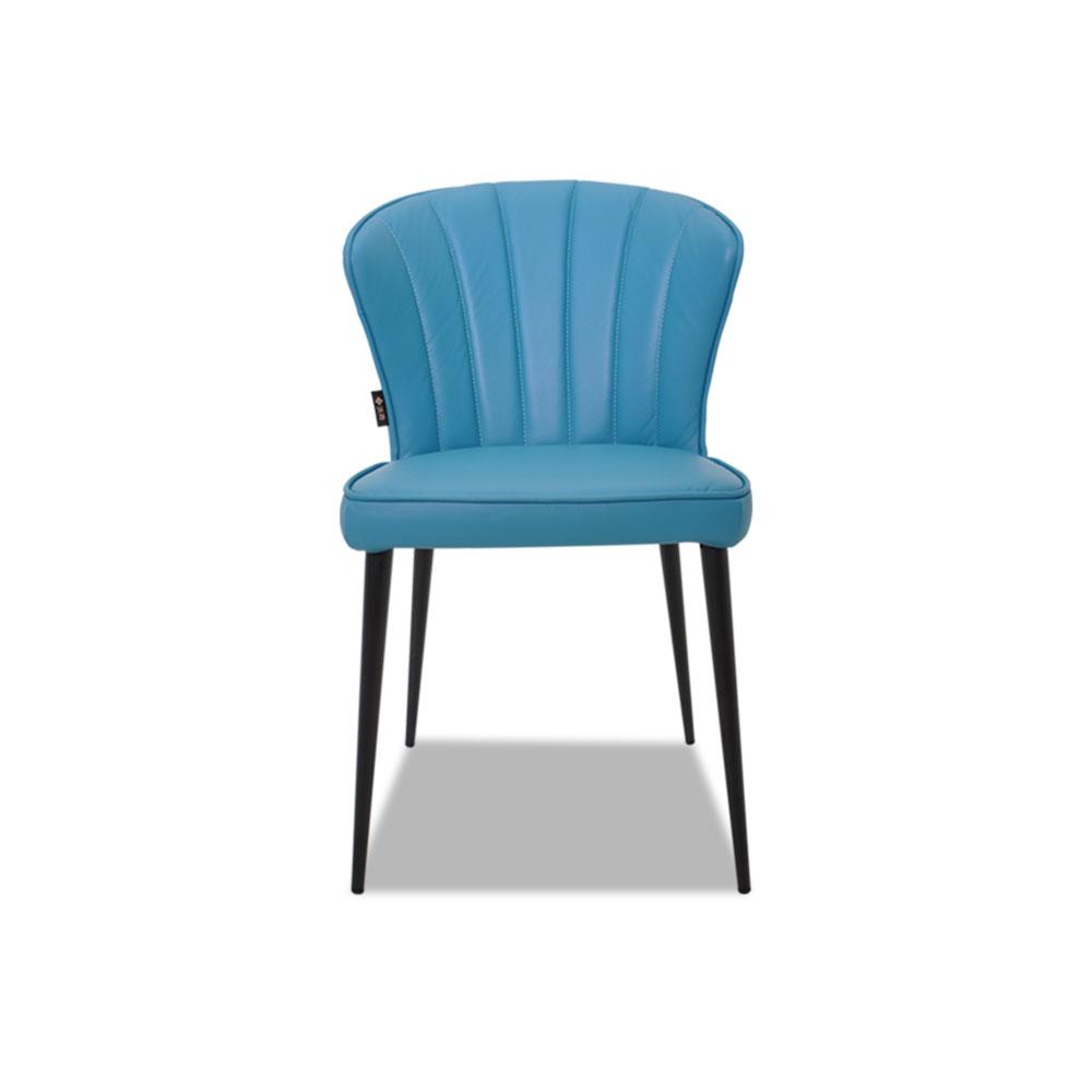 6908L藍色皮餐椅