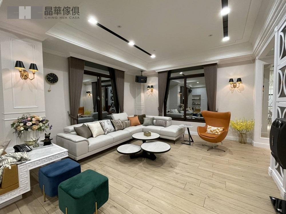 美式新古典案例 客廳